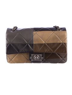 Khaki Cool: Chanel Quilted Flap Bag.