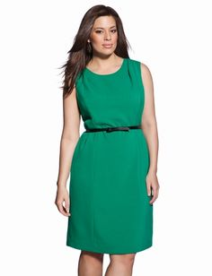 Eloquii.com - Folded Shoulder Sheath Dress.  $69.99