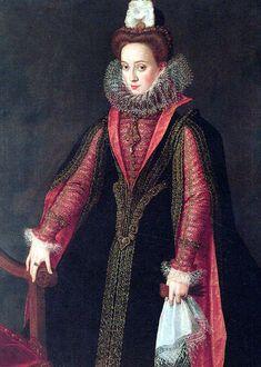 Spanish court lady, probably Isabel de Valois,  by Sofonisba Anguissola
