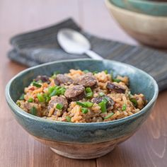 Recipe for slow-cooker chicken and andouille jambalaya made with Ro*Tel®.