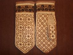 Soft and cozy mittens Leaves and blossoms by orintadesign on Etsy, $38.00