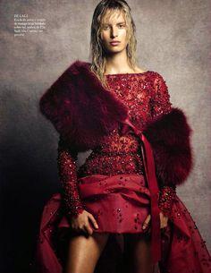 Karolina Kurkova by Nico Bustos for Vogue Spain October 2014