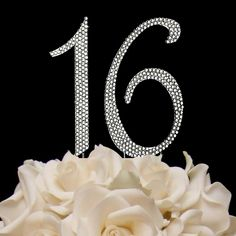 Glitz And Glamour Sweet 16 Sixteen Crystal Covered Birthday Party Cake Topper Cakes
