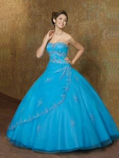 Ball Gown Sweetheart Strapless Beading Organza Quinceanera Dress