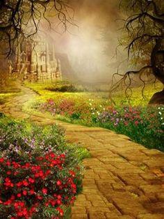 Katebackdrop:Kate Autumn Backdrop Fantasy Disney Background
