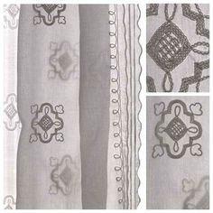 Voile Smyrna (traditional French fin de siecle design, hand sewn in India)