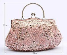 11 Colors High Quality Women's Beads Evening Bag Exquisite Handmade Beaded Bags Embroidered Wedding Bridal Bag Wristlet bolsos