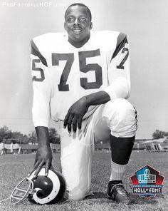 Class of 1980 Pro Football Hall of Fame Enshrinee Deacon Jones. Click on image for complete HOF bio. #Movember