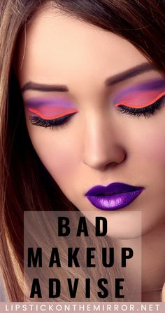 Are you following bad makeup advise?  Are you following the advise of a Professional Makeup Artist or an Influencer?  The 2 fields are very different and so is the makeup techniques they preach.  Find out all about  the Bad Makeup advise that is being shown. Lipstick on the Mirror