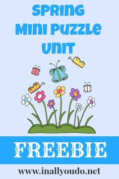 Free Spring Mini Puzzle Unit, Math Fact Sheets, and Copywork