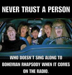 Find and save Bohemian Rhapsody Memes Queen Band, Funny Quotes, Funny Memes, Hilarious, Funny Hacks, Cheeky Quotes, Time Quotes, Memes Humor, Bryan May
