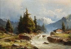 Landscape_from_the_Alps_with_a_river_and_mountains_in_the_background,_1883_(unknown_painter).jpg (2929×2035)