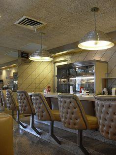 Golden Dawn Diner Vintage Interior 1970s Style Hamilton New Jersey