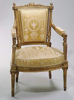 One of Marie Antoinette's chairs in her apartments at Versailles