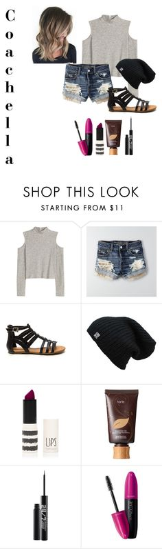 """My Version Of Coachella"" by goldenchild1302 ❤ liked on Polyvore featuring American Eagle Outfitters, Topshop, tarte, Urban Decay and Revlon"