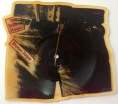 The Rolling Stones - Brown Sugar Picture Disc 45 RPM Vinyl Record Single, Promotone - Sugar P1, Classic Rock, 1984
