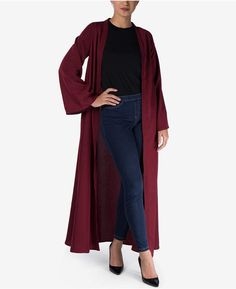 0657ba1610873 Verona Collection Bell-Sleeve Maxi Cardigan