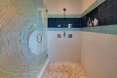 Bathroom Black Beach Pebbles Design Ideas, Pictures, Remodel, and Decor