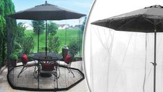 Gardensity 2.7M Convertible Parasol Cover Transform garden parasols into a gazebo with the Gardensity 2.7M Convertible Parasol Cover      Protect yourself and your food from pests      Create a shaded area on hot days      Continue dining even if light rain begins      Uses water to keep it sturdy      Netted sides to keep the fresh air and breeze      Zip up entrance / exit      Easy to put...
