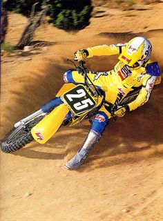 Bob Hannah on the 1986 SUZUKI