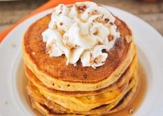 These pumpkin pancakes so light and fluffy, with the perfect pumpkin spice flavor. A delicious fall breakfast everyone will love!