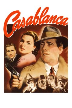 (1943) 1 of the best romances in movie history.Rick Blaine owns a nightclub in Vichy-controlled Casablanca, frequented by refugees desperate to escape German domination. Despite the ever-present human misery, Rick manages to remain uninvolved in World War II now raging across Europe and Northern Africa. But all that changes when Ilsa Lund walks through the front door of Rick's club--Rick must now choose between a life with the woman he loves and becoming the hero that both she and the world…