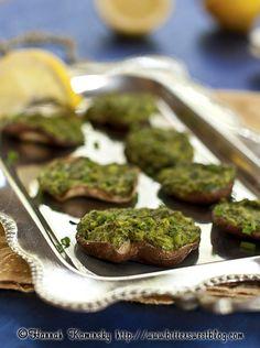 Vegan oyster mushrooms rockafeller