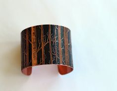 2+Copper+Tree+Cuff+by+metallist+on+Etsy,+$48.00  Etching