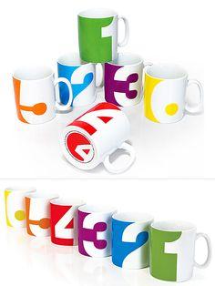 Numbers Mug Set   moddea