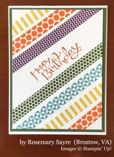 Rosemary Sayre, Bristow VA, Stampin' Up!, card swap
