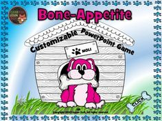 Bone-Appetite is a fully customizable PowerPoint Game template that will appeal to all ages.  Teams of students choose one each of the 5 dogs, the goal being to answer questions correctly which in turn advances their dogs home for dinner. Who can get their first?You can use it for any subject or level as you are editing in your own multiple choice questions and answers.