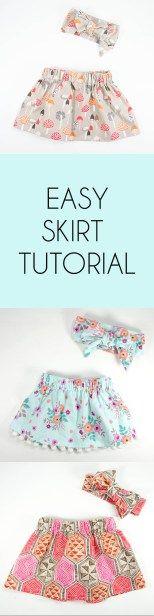 Sew Jersey Mama | Sewing DIY | Easy Skirt Tutorial | Baby Girl Sewing | Sewing for Kids | Sewing for Girls | Skirt Tutorial | Easy Sewing Tutorial