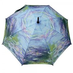 Click on the image to get this #umbrella Claude #Monet printed with the famous Water Lilies painting.  https://www.rosemarie-schulz.eu/en/umbrellas/77-stickumbrella-by-claude-monet.html