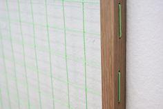 Johan Øvergård Portal (Dürer Grid) Oak and neon bricklayer's string, 112 x 112 x 2,1 cm, 2014 Detail