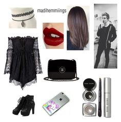 """""""Day Out with Luke."""" by madihemmiings on Polyvore featuring Anja, Bobbi Brown Cosmetics, Charlotte Tilbury, Chanel, 5sos, lukehemmings, 5secondsofsummer and 5secondsofsexx"""