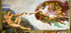 Sistine Chapel, Creation of Adam. BEAUTIFUL