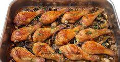 Ciocanele de pui si ciuperci cu vin si usturoi la cuptor Zucchini Pizza Crust, Romanian Food, Casserole Recipes, Food Inspiration, Cookie Recipes, Shrimp, Keto, Food And Drink, Turkey