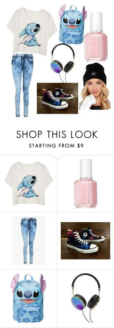 """""""Love stitch!"""" by luckylover0801 ❤ liked on Polyvore featuring moda, Essie, Converse, Disney, Frends i OBEY Clothing"""