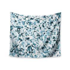 """Kess InHouse Angelo Cerantola """"Waterflowers"""" Blue Digital Wall Tapestry 51'' x 60'' (Waterflowers) (Polyester)"""