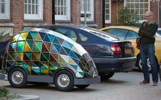 Image result for stained glass art car