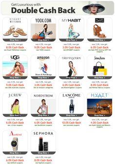 90 best deals coupon codes shopping cash back rebates images on double cash back week at httpebatesrf fandeluxe Images