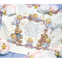 Dimensions® Nighttime Prayer Baby Quilt Stamped Cross-Stitch Kit $39.49