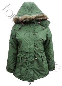 Khaki Parka Jacket with Animal Hood Product    Pack of 4 Pieces Was £23.50    Now £18.00 per Piece  VAT: 0%   FC  Pack contains 1 pieces of each size  Available Sizes:  20,22,24,26  Material Specification:  100% Polyester