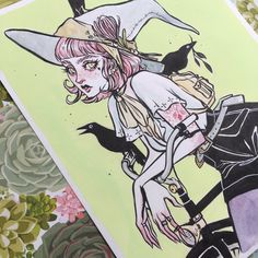 She'll be up in the shop hopefully over the weekend (original & prints). Audra Auclair, Wicca, Guache, Witch Art, Animation, Beauty Art, Pretty Art, Art Inspo, Amazing Art