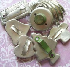 Vintage Aluminum Biscuit Cookie Cutters with by TinselandTrinkets, $9.99