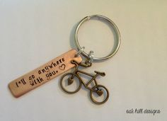 Hey, I found this really awesome Etsy listing at https://www.etsy.com/listing/222419406/stamped-bike-keychain-bicycle-lover