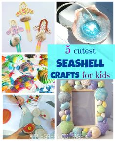 SEASHELL summer CREATIVITY - Some of the best ideas of how you can use shells to make the cutest, colorful, crafty creations out of them.
