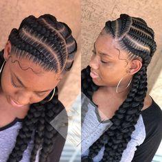Feed In Braids Hairstyles, Box Braids Hairstyles For Black Women, Stitch Braids, Cornrows, Natural Hair Styles, Hair Cuts, Dreadlocks, Bohemian, Braided Buns