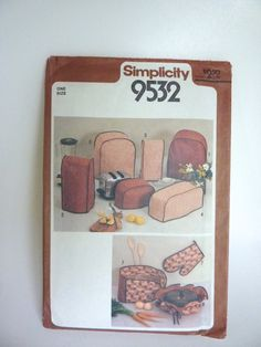 1980 Kitchen Appliance Covers Pattern by BonniesVintageAttic, $6.50