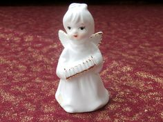 Bone China Angel with Accordion Figurine Vintage Miniature Collectible or Decoration https://etsy.me/2IbaiZ5 #vintage #collectibles #white #christmas #gold #angel #madeintaiwan #teamwwes #finebonechina #angel #angels #etsyangels #forsale #shopsmall #etsysellsvintage